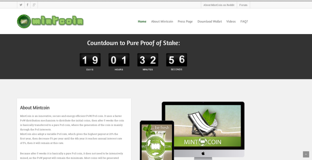 Mintcoin Website