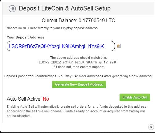 Litecoin Deposit Address