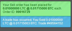 Exchange success
